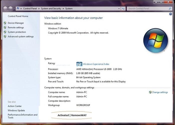 RemoveWAT 2.2.9 Crack Plus Activation Key Free Download